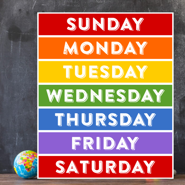 Days of the Week- Educational Video - Kids Are First (650 x 650 Pixel)
